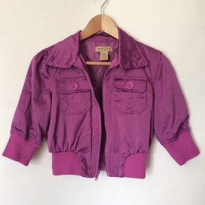 Short sleeve jacket in pink